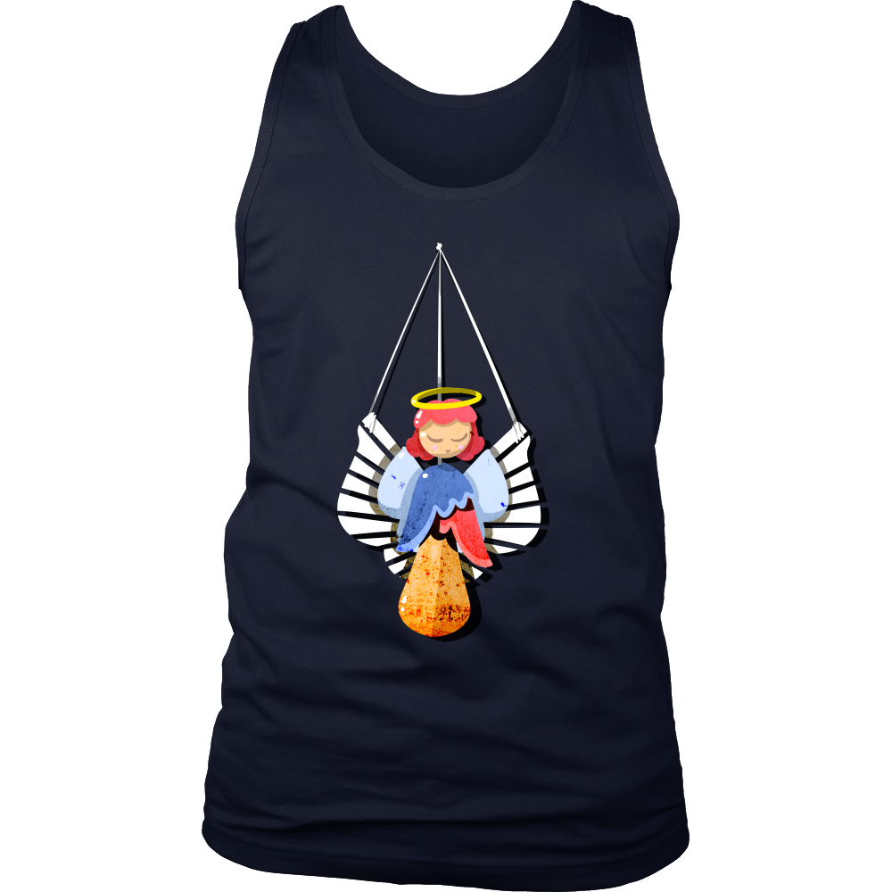 Christmas Angels, Merry Christmas Winter Season Men's tank