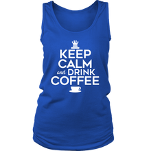 Keep Calm and Drink Coffee Novelty Women's Tank Top T-shirt For Coffee Lovers