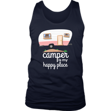 Camper Is My Happy Place Cute Camping Baby Tank