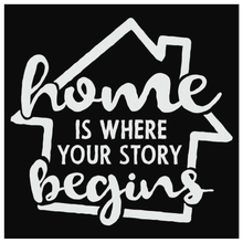 Home Is Where Your Story Begins Canvas