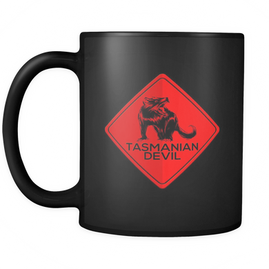 Australia Tasmanian Devil Highway Road Warning Sign Mug