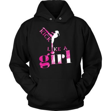 Martial Arts, Karate, Kick Like a Girl Sports Team Apparel