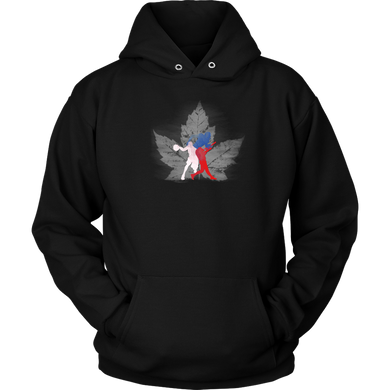 Love Canada USA Basketball,Soccer,Baseball Sports Souvenir Hoodie