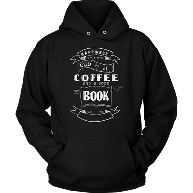 Happiness is Coffee and a Good Book Caffeine Addicts Apparel