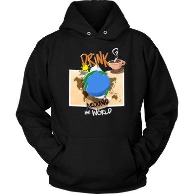 Drink Coffee Around the World, Travel Vacation Tourist Apparel