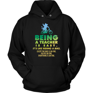Funny Being a Teacher is Easy Novelty Apparel