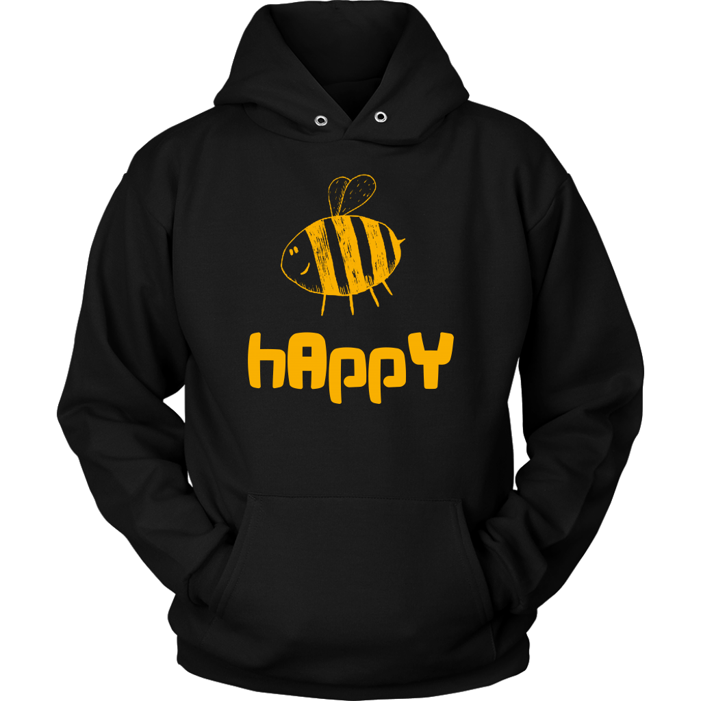 Bee Happy Inspirational Motivational Happiness Apparel