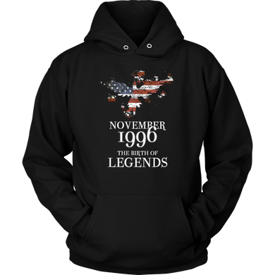 November 1996 The Birth of Legends Birthday Apparel