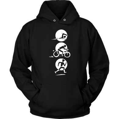 Triathlon, Running, Biking, Swimming Love Sports Hoodie