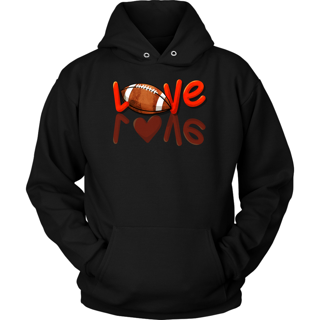 LOVE Football Player Fan Distressed  Sports Fanatics Apparel