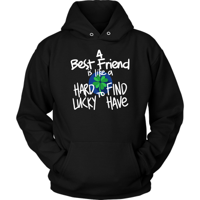 A Bestfriend is like a Clover Leaf Funny Quotes about Life Apparel