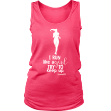 I Run Like A Girl Try to Keep Up Funny Workout Women's Tank Top T-shirt