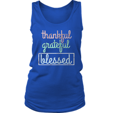 Thankful, Grateful, Blessed Inspirational Quote Women's Tank Top Shirt