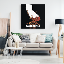 Native Root Land California US State Hometown Canvas