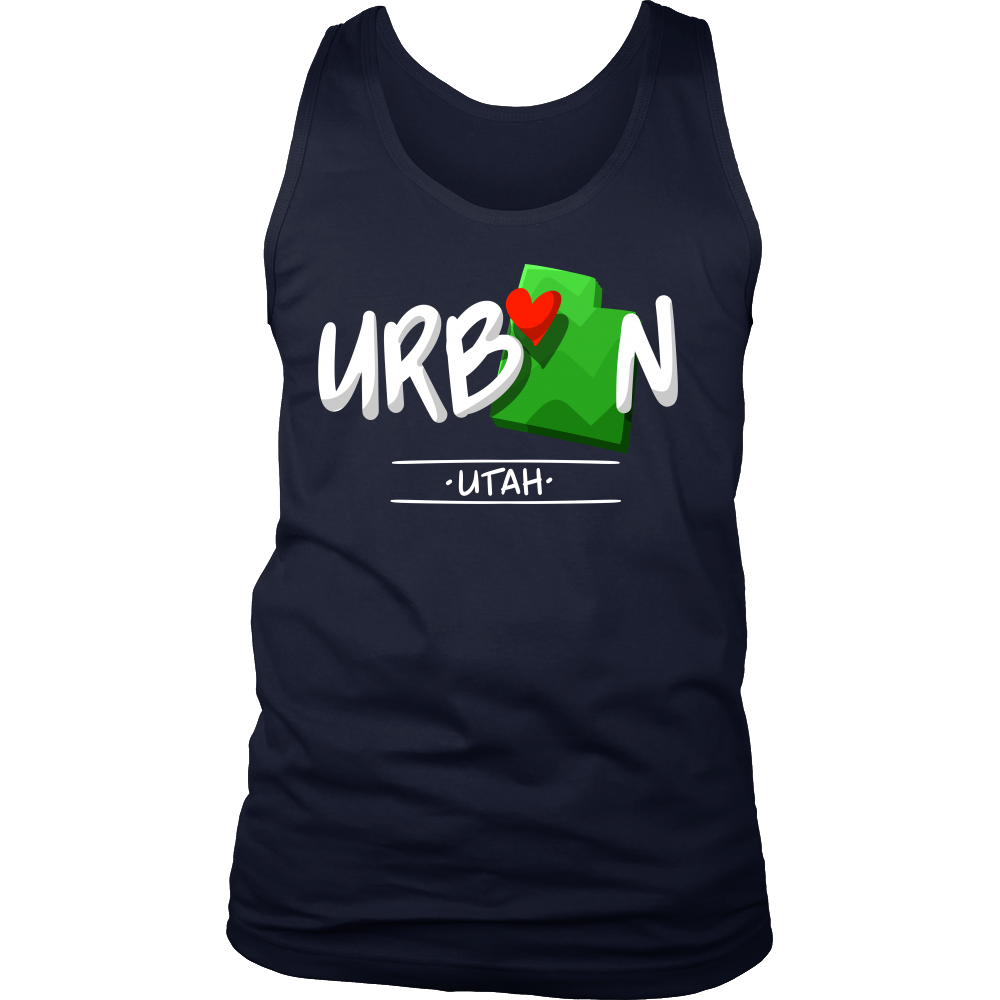 Utah State Map Origin Local Urban Home USA Men's tank