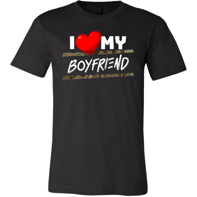 I Love My Boyfriend Heart Family Fun and Cute Quote T-Shirt