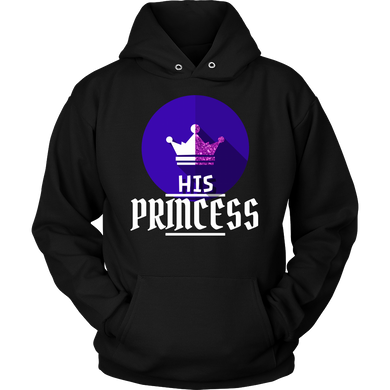 I am His Princess Royalty Matching Couple Hoodie