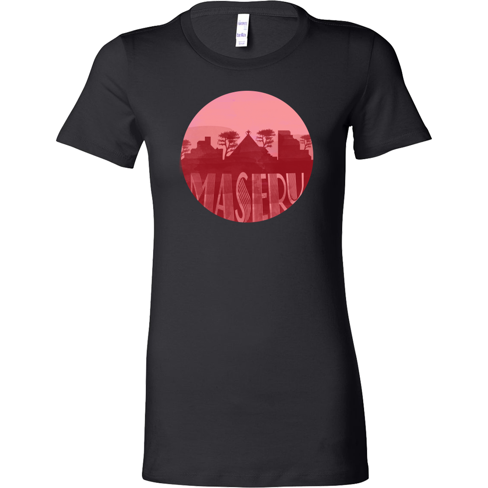 Maseru Skyline Horizon Sunset Capital Of Lesotho Bella Shirt