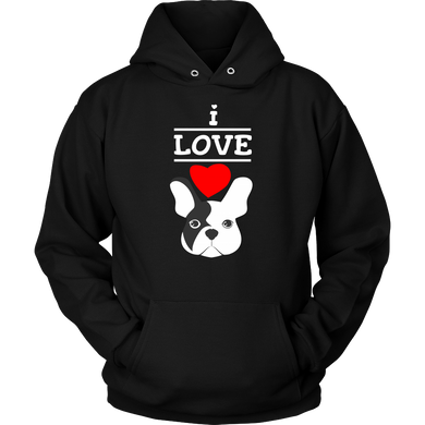 I Love French Bulldogs,Love Dogs,Animal and Pets Hoodie