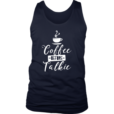 Coffee Before Talkie Novelty Men's Tank For Coffee Lovers