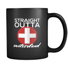 I Love Switzerland, Svizzera Swiss Flag SCHWEIZ Suisse Country  Black 11oz mug