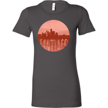 Santiago Skyline Horizon Sunset Love Chile Bella Shirt