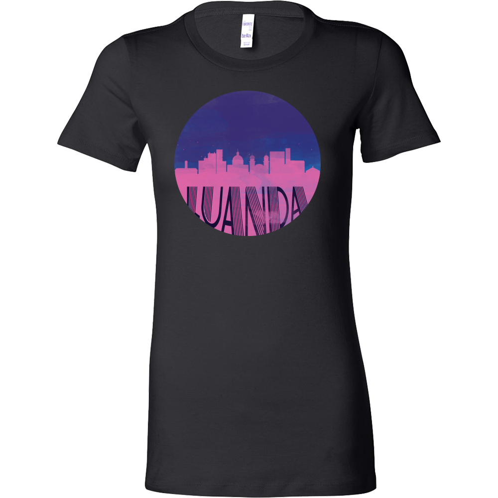 Luanda Skyline Horizon Sunset Love Angola Bella Shirt