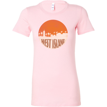 West Island Capital Skyline Horizon Sunset Cocos Bella Shirt