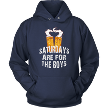 Saturdays Are For The Boys Funny Drinking Party Hoodie
