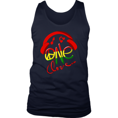 Jamaica One Love Reggae Carribean Music Pride Flag Tank