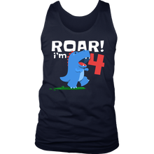 Dinosaur Kids 4th Birthday Fun Dino T Rex Lovers Tank