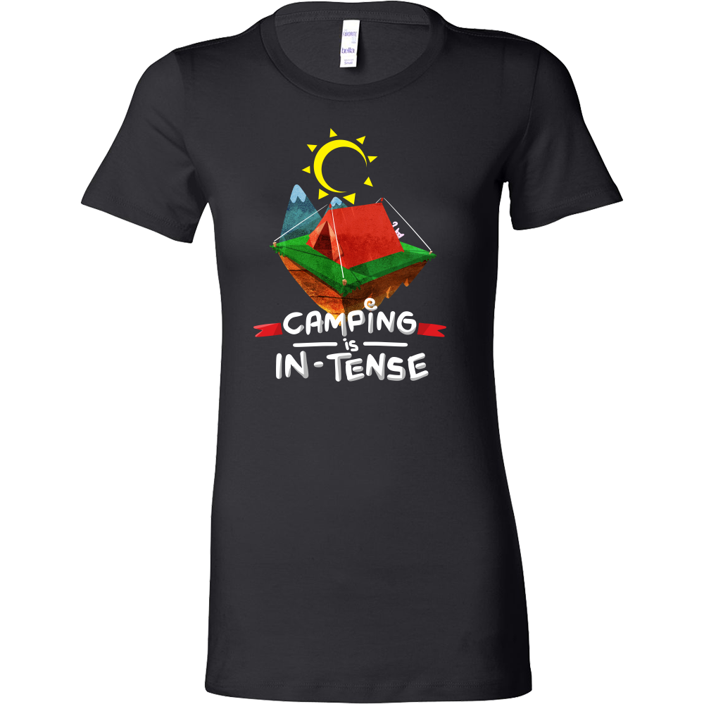 Cool Funny Campers Camping In-Tents Bella Shirt