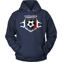 Soccer, Costa Rica Sports Flag Hoodie Costa Rican