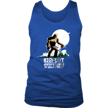 Bigfoot Doesn't Believe in You Either Funny Bigfoot Gift Men's Tank