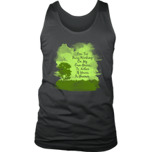 Too Busy Working on My Grass Inspirational Motivational Men's tank