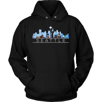 Seattle Washington Downtown City Skyline Souvenir Travel US Hoodie