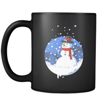 Snowman Christmas Black 11oz mug