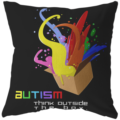 Autism Think Outside the Box Love, Understand and Accept Pillow