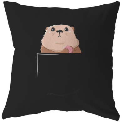 Sea Otter in a Pocket,Love Otters Cute Pillow