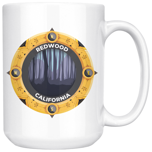 Redwood National and State Park Mug | California National Parks Art Coffee 11oz - 15oz Mug