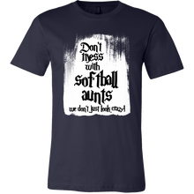 Don't Mess With Softball Aunts Funny Family T Shirt