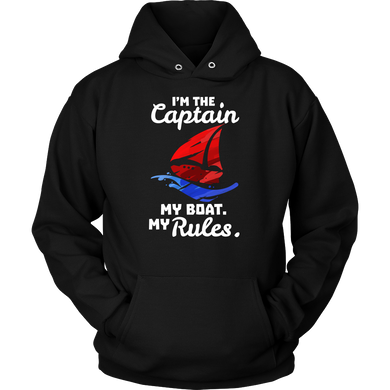 I Am The Captain,My Boat,My Rules Boating Bosses Funny Hoodie