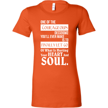 Let Go of What is Hurting Your Heart Inspirational Bella Shirt
