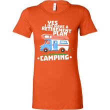 Retirement Plan Is Camping Travel and Camper Funny Bella Shirt