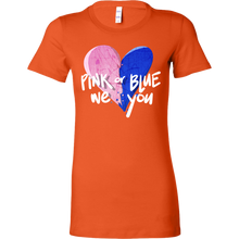 Pink or Blue Baby Shower Gender Reveal Pregnancy Bella Shirt