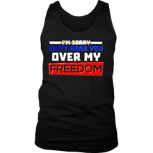 Can't Hear You Over My Freedom Funny Party 4th Of July Men's Tank