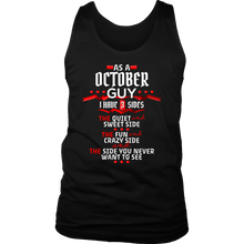 October Guy,Crazy, Sweet and Fun Birthday B Day Gift Men's tank