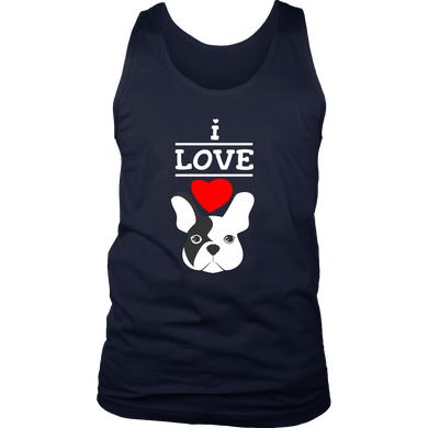 I Love French Bulldogs,Love Dogs,Animal and Pets Tank