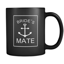 Bride's Mate Wedding Marriage Party Squad Celebration Black 11oz Mug