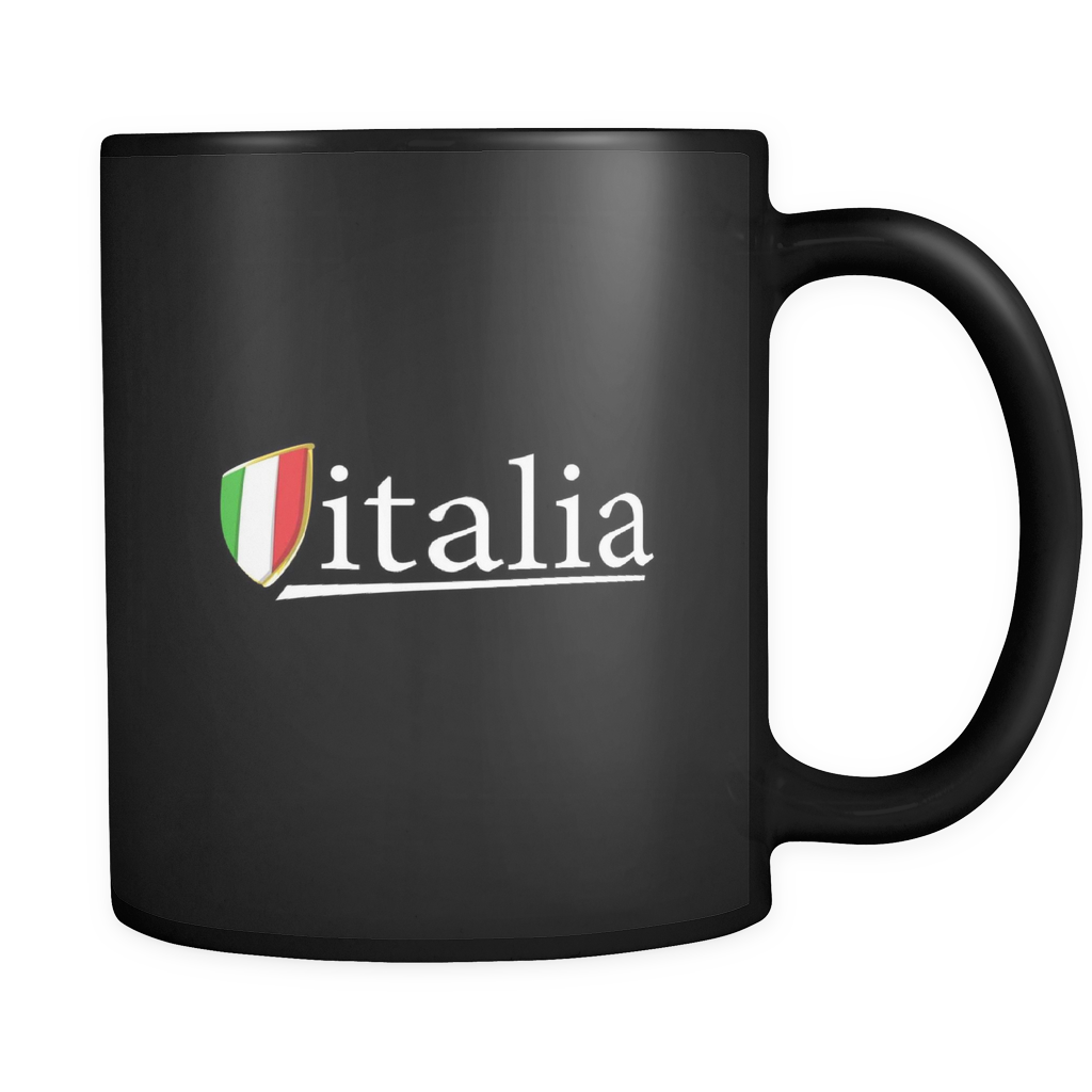 Italia Mug I Love Italy Black Ceramic 11oz Mug